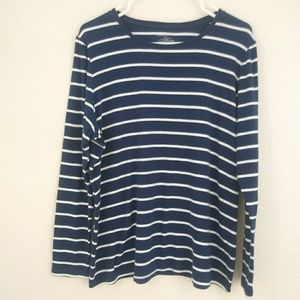 Lane Bryant | Blue & white striped LS top 18/20